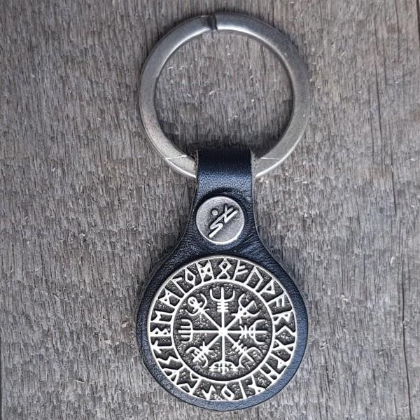 Schlüsselanhänger VEGVISIR schwarz/silberfarben