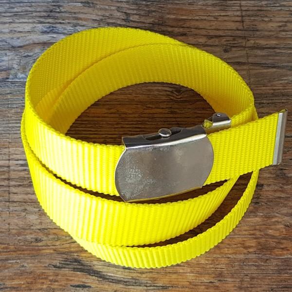 Stoffgürtel gelb, 3cm breit