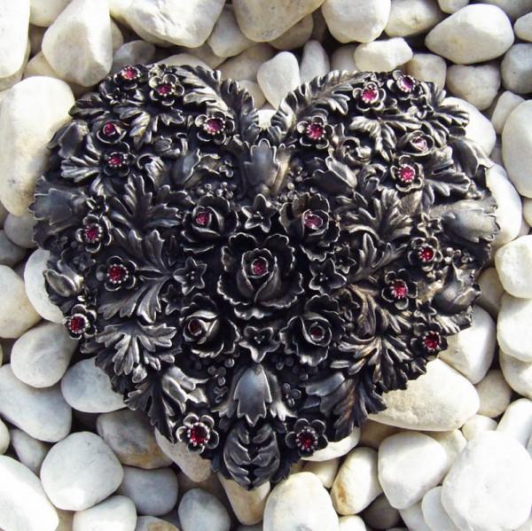 Heart of Flowers, 4cm, Gürtelschließe