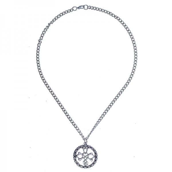 Keltischer Knoten Hochzeitsknoten Anhänger 40 mm versilbert