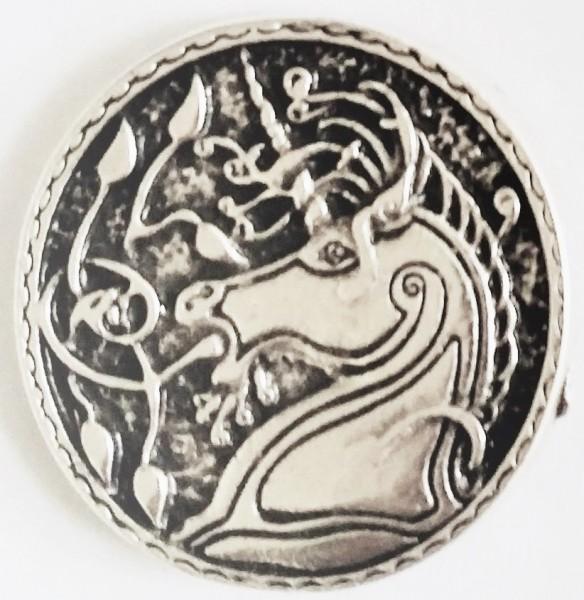 N-022-1 Keltisches Einhorn, silberfarbener Beschlag