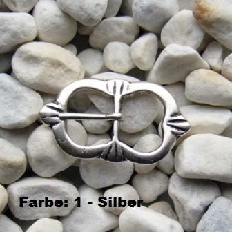 Mittelalter-Schließe, 10mm, silberfarben