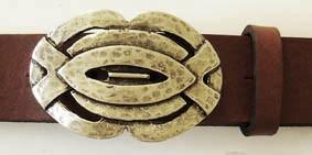 Barclay, 4cm, keltische Flechtband-Schließe, silberfarbene