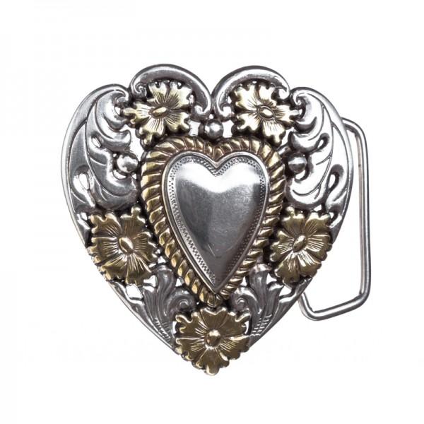 Heart and Flowers, 4cm Schließe