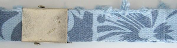 Stoffgürtel Koppel, gemustert, Vintage hell-/dunkelblau