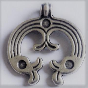 Anhänger keltische Enten , silberfarben