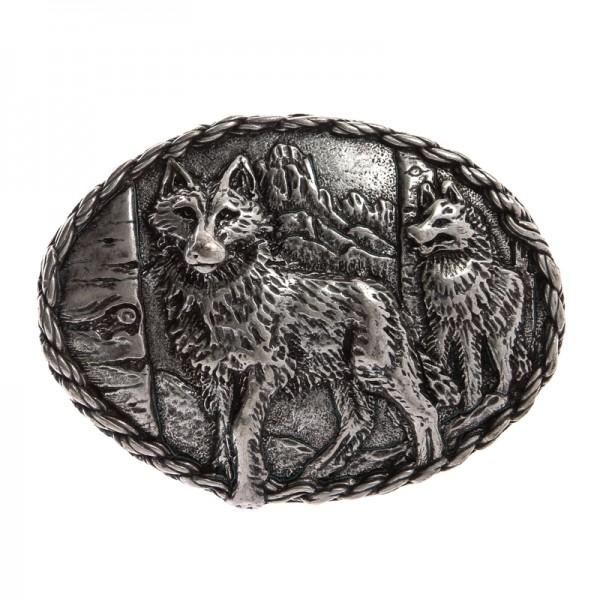 Wolfs-Rudel, 4cm, silberfarbene Schließe
