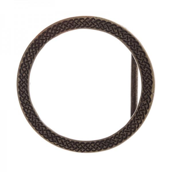 Celtic Ring, 4cm, altmessingfarbene Ring-Schließe