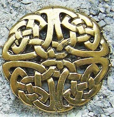 Celtic Knot 1, messingfarben