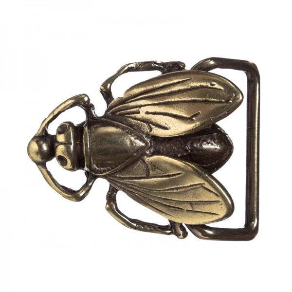 PUCK, 4cm, silberne Fantasy-Schließe Fliege