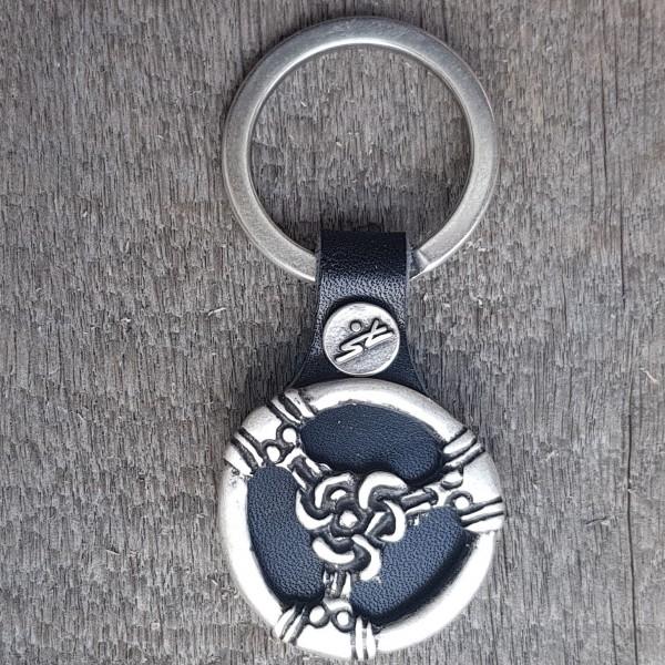 Schlüsselanhänger TRISKEL Riementeiler, silberfarben