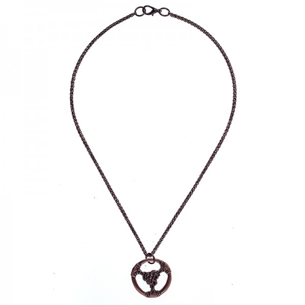 Halskette / Teiler TRIS, kupferfarben