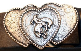 B 9005-1 Western Buckle 'Triple-Heart'