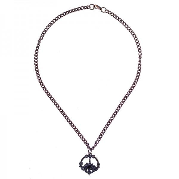 Halskette Haithabu, altmessingfarben