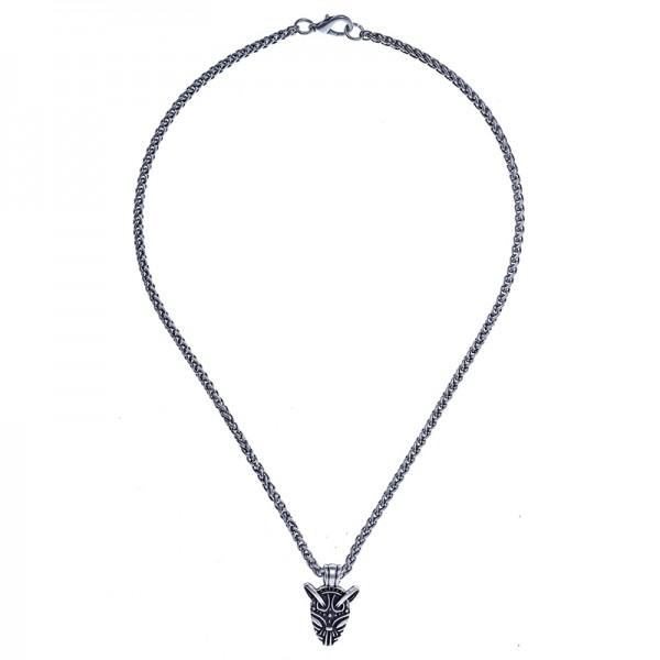 Halskette Fenrir, silberfarben