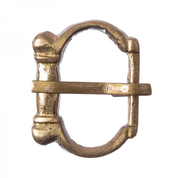 Mittelalter-Halbschließe, 10mm, Vollmessing
