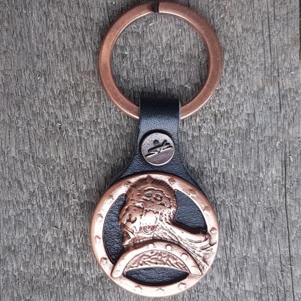 Schlüsselanhänger WIKINGER-KRIEGER, kupferfarben