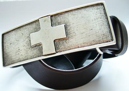 Rütli, 4cm, schweizer Kreuz - Schließe