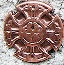Kreuz der Kelten, klein, kupferfarbener Beschlag
