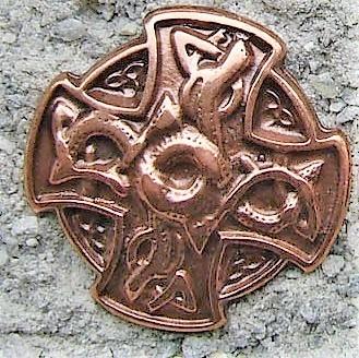 N-219-4 Drachen Kreuz, kupferfarbener Beschlag