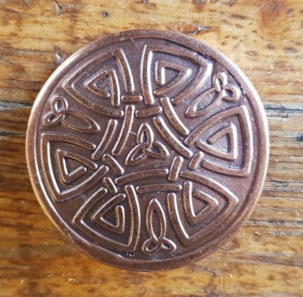 keltischer Knoten, Beschlag kupferfarben