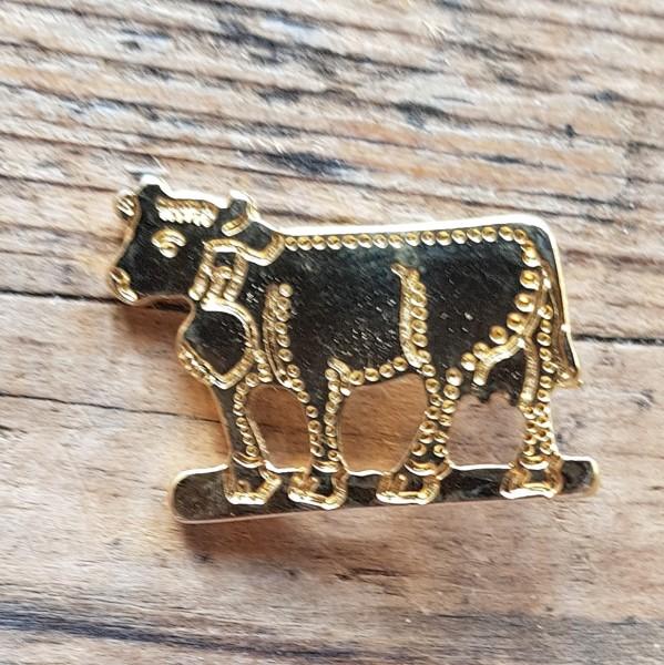 Appenzeller Kuh, goldene Zierniete