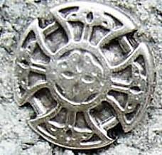 Kreuz der Kelten, klein, silberfarbener Beschlag
