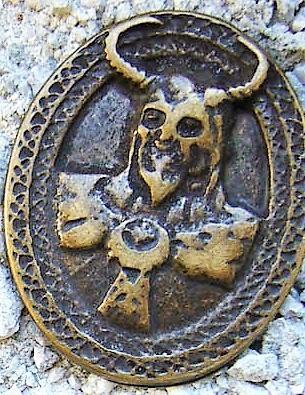Viking God Loki, altmessingfarbener Beschlag