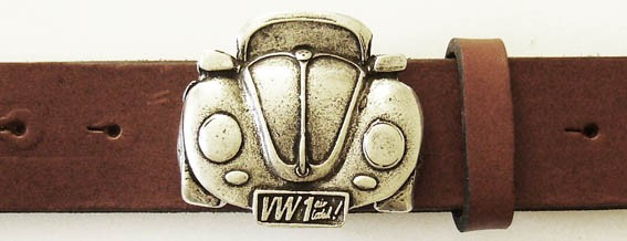 VW-Käfer, 4cm, silberne Gürtelschließe