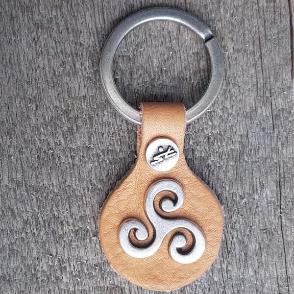 Schlüsselanhänger TRISKELE, silberfarben