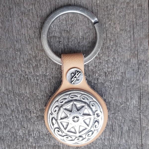 Schlüsselanhänger SCHILD DES BERLINGR, silberfarben