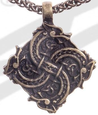 Anhänger Keltisches Drachenkreuz, altmessingfarben