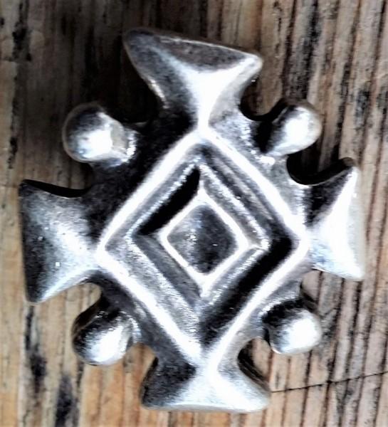 Isländisches Königssymbol, silberfarbener Beschlag