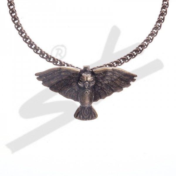PK 5101-21 Halskette Eule Rosmerta, altmessingfarben