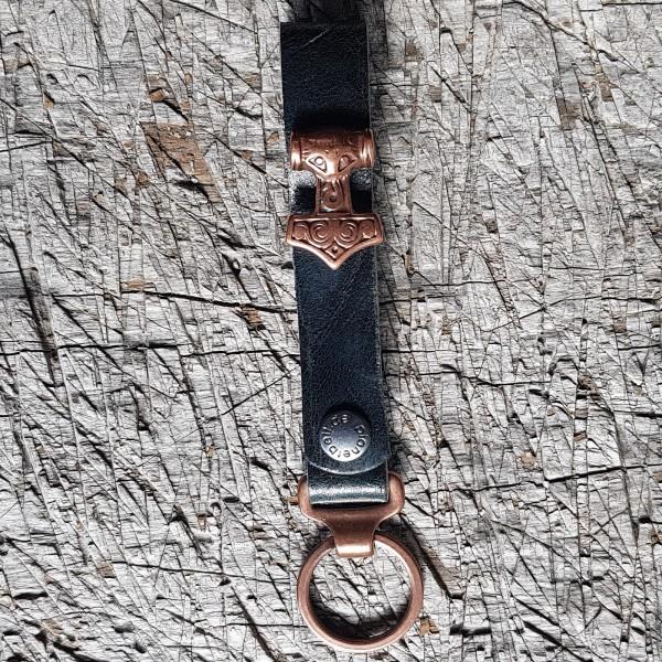 Schlüsselanhänger SLING, Mjölnir, Thor-Hammer, kupfer