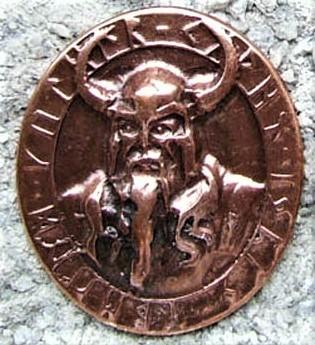 Odin Amulett, kupferfarbener Beschlag