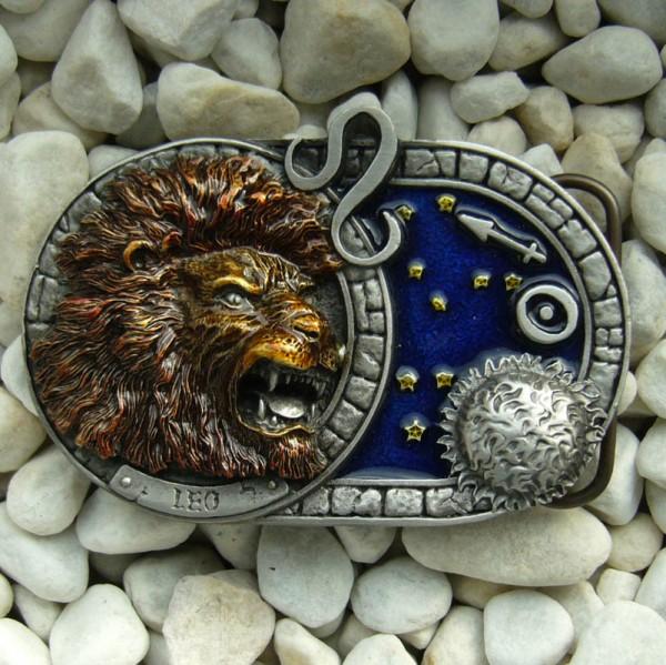 Sternzeichen Löwe - Leo, 4cm Schließe