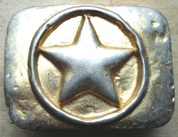 Stern-Schließe, 4cm, goldbestaubt