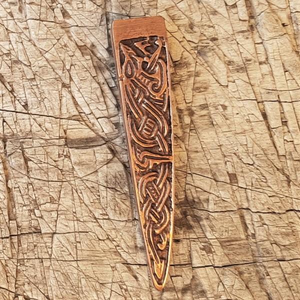 kupferfarbene keltische Gürtelspitze 2cm