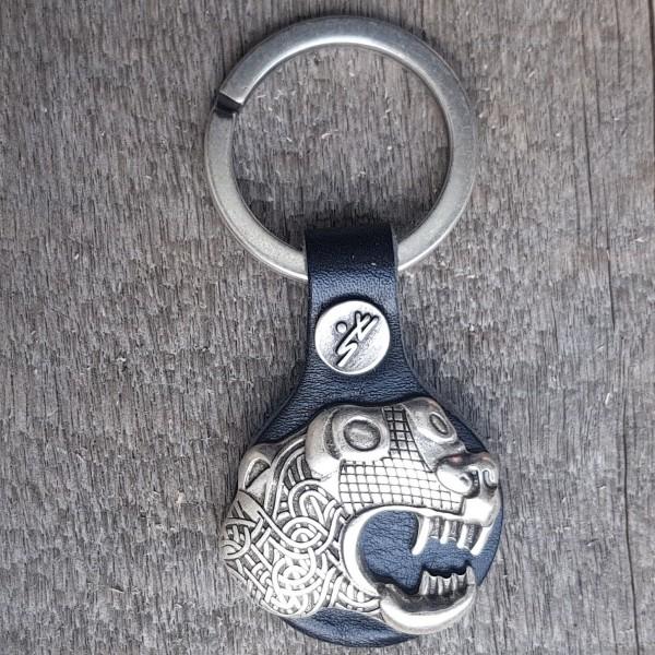 Schlüsselanhänger OSEBERG-DRACHE, silberfarben