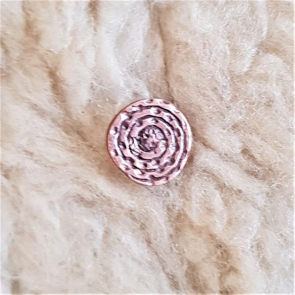 Spiralplatte, klein, kupferfarbener Beschlag