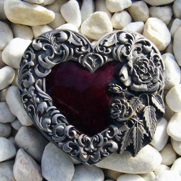Romantic Heart, 4cm, Gürtelschließe