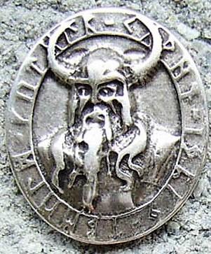 Odin Amulett, silberfarbener Beschlag