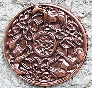 N-207-4 Celtic Horses, kupferfarbener Beschlag