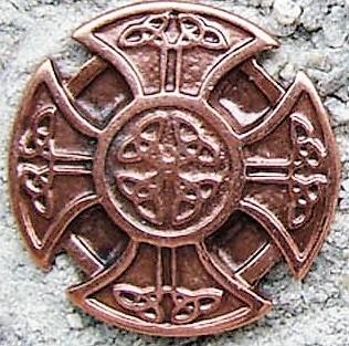 Kreuz der Kelten, kupferfarbener Beschlag