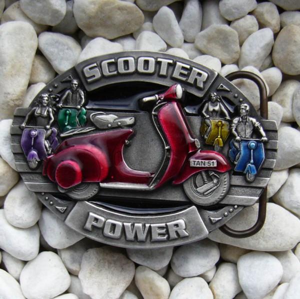 Scooter Power, 4cm, Motorroller-Schließe