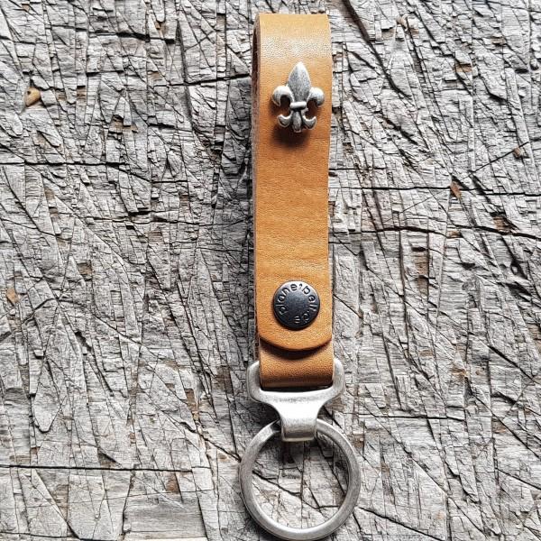 Schlüsselanhänger SLING, französische Lilie, silber