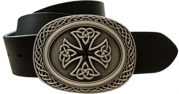Celtic Knoted Cross, 4cm, keltische Kreuz-Schließe