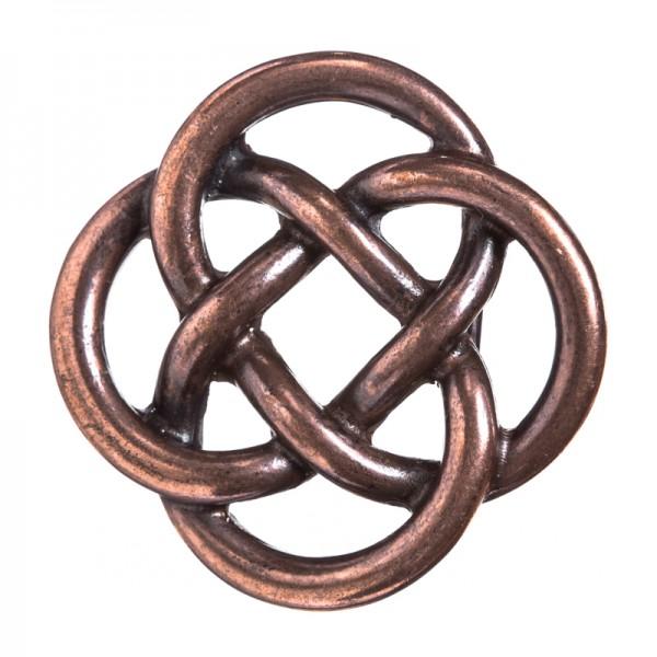 Glendale, keltische Knoten-Schließe, 4cm, kupferfarben