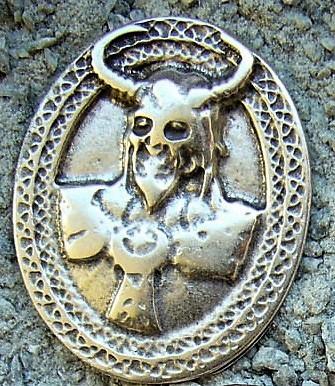 Viking God Loki, silberfarbener Beschlag